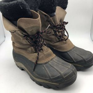 Sorel Mens Snow Winter Boots Antarctic Black/Bown